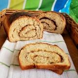 whole wheat cinnamon swirlbread
